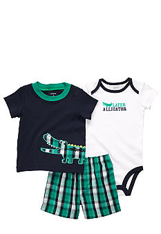Carter's 3-Piece Alligator Short Set