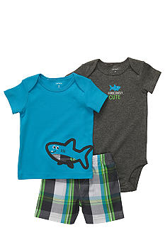 Carter's 3-Piece Shark Diaper Cover Set