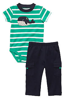Carter's 2-Piece Striped Whale Bodysuit Set Toddler Boys
