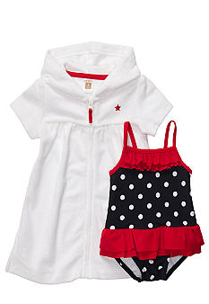 Carter's Polka Dot Swimsuit and Cover Up Set