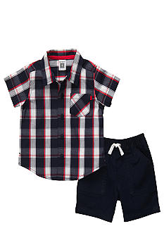 Carter's 2-Piece Plaid Shirt and Short Set
