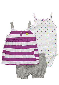 Carter's 3-Piece Purple Heart Diaper Cover Set