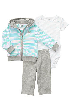 Carter's® 3-Piece Striped Whale Hoodie Pant Set