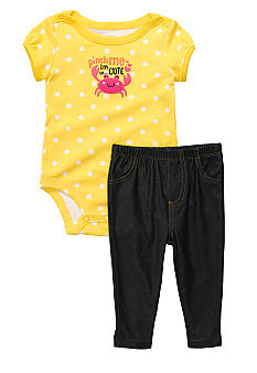 Carter's Crab Bodysuit Pant Set