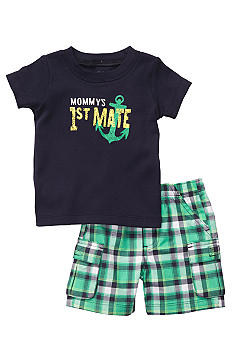 Carter's 2-Piece Mommy's 1st Mate Plaid Short Set