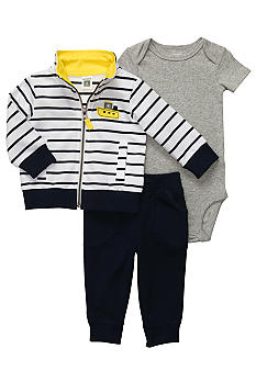 Carter's 3-Piece Striped Tug Boat Cardigan Set