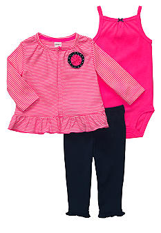 Carter's Girlie 3-Piece Cardigan Pant Set