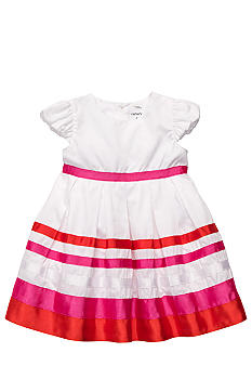 Carter's Puff Sleeved Striped Dress