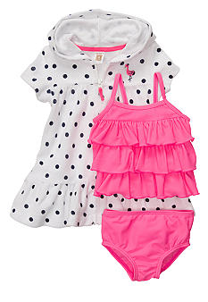 Carter's 3-Piece Polka Dot and Pink Tankini Set