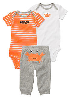 Carter's EDV 3-Piece Crab Print Pant Set