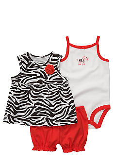 Carter's 3-Piece Zebra Print Diaper Cover Set