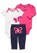 Carter's® 3-Piece Butterfly Pant Set