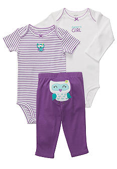 Carter's 3-Piece Owl Pant Set