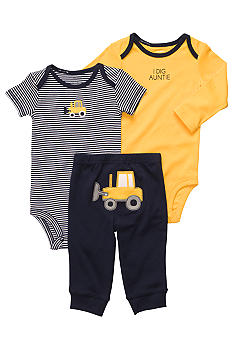 Carter's 3-Piece Bulldozer Pant Set