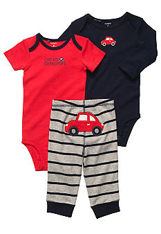 Carter's 3-Piece Car Bodysuit Set
