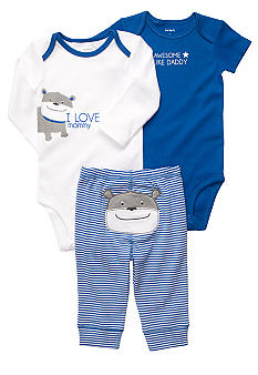 Carter's 3-Piece Dog Bodysuit Set