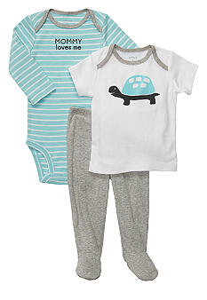 Carter's 3-Piece Footed Turtle Set