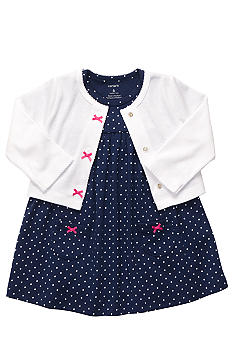 Carter's Polka Dot Dress And Cardigan Set
