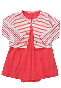 Carter's Dress And Striped Cardigan Set