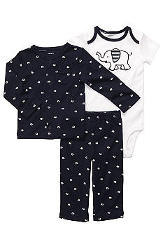 Carter's 3-Piece Elephant Cardigan Set