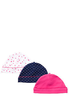 Carter's 3-Pack Butterfly and Polka Dot Print Caps