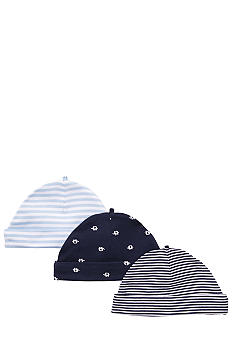 Carter's 3-Pack Elephant and Stripe Print Caps