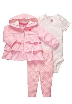 Carter's 3-Piece Ruffle Cardigan Set