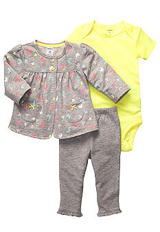 Carter's 3-Piece Butterfly Cardigan Set