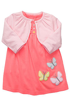 Carter's Butterfly Cardigan And Dress Set