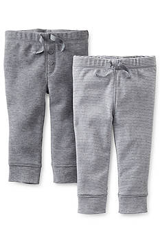 Carter's® 2-Pack Solid and Stripe Pants