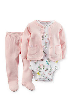 Carter's 3-Piece Floral Cardigan, Bodysuit and Pant Set