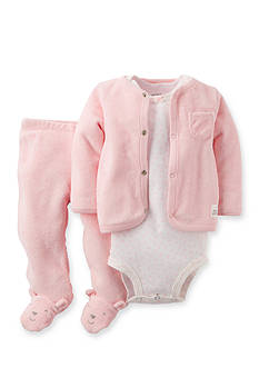 Carter's 3-Piece Bear Bodysuit, Cardigan and Pant Set