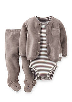 Carter's 3-Piece French Terry Cardigan, Bodysuit and Pant Set
