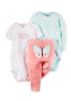 Carter's 3-Piece Printed Bodysuits and Butterfly Pants Set