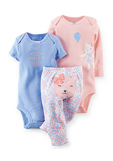 Carter's 3-Piece Printed Bodysuits and Bear Pants Set