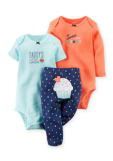 Carter's 3-Piece Cupcake Bodysuits and Pant Set