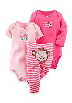 Carter's 3-Piece Monkey Bodysuits and Pant Set