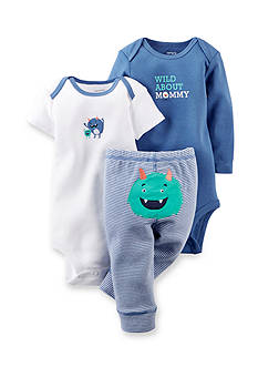 Carter's 3-Piece Monster Bodysuits and Pant Set