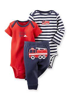Carter's 3-Piece Firetruck Bodysuits and Pant Set