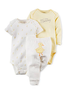 Carter's 3-Piece Printed Bodysuits and Duck Pant Set