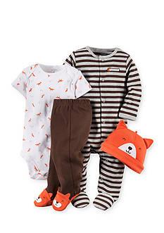 Carter's 4-Piece Fox Theme Striped Sleep and Play Set