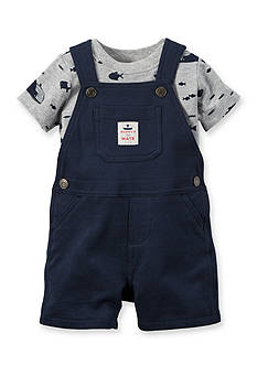 Carter's 2-Piece Ocean Life Tee and Solid Overall Set