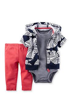 Carter's 3-Piece Printed Cardigan, Bodysuit and Pants Set