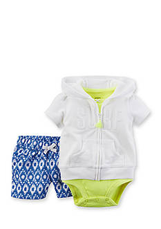 Carter's 3-Piece Cardigan Surf Short Set