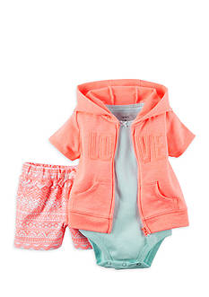 Carter's 3-Pice Cardigan Love Short Set