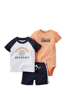 Carter's 3-Piece 'Handsome Academy' Short Set