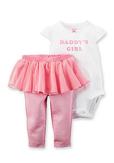 Carter's 2-Piece Printed 'Daddy's Girl' Bodysuit and Tutu Pant Set
