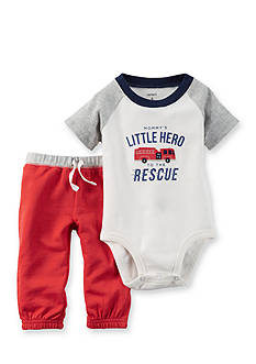 Carter's 2-Piece 'Little Hero' Bodysuit and Pant Set