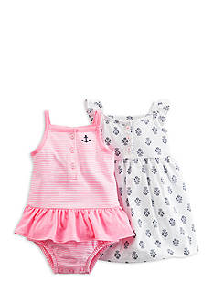 Carter's 2-Pack Print and Stripe Dress Set