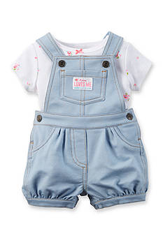 Carter's 2-Piece Floral Tee and Overall Set